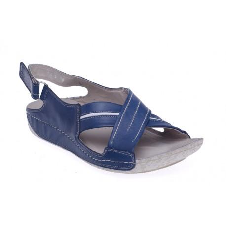 Damskie sandały na koturnie skóra