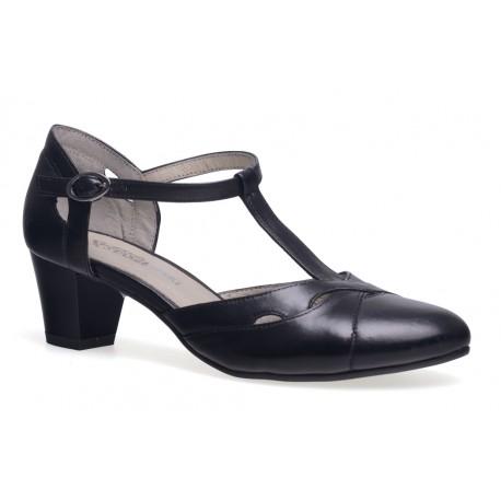 Sandały w włoskim stylu zakryta pięta skóra