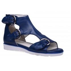 Damskie skórzane sandały gladiatorki
