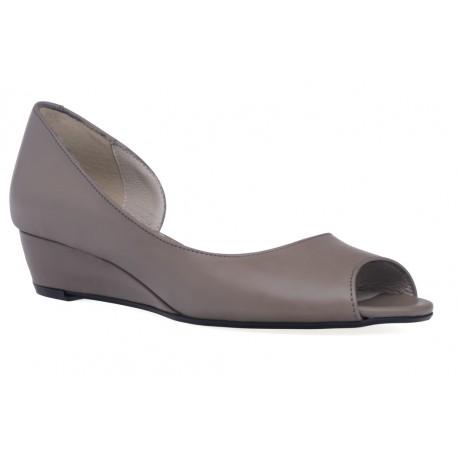 Damskie sandały wygodne koturny włoska skóra