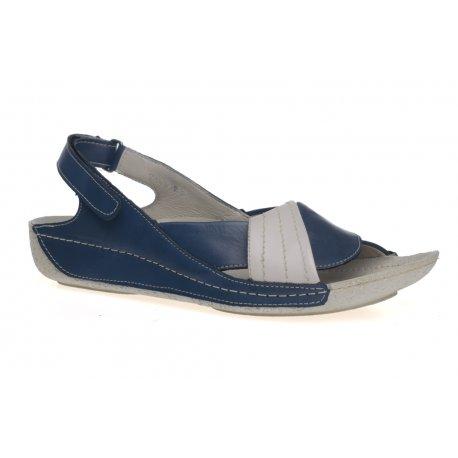Damskie sandały na rzep skóra naturalna