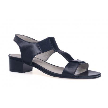 Damskie sandały na obcasie skóra naturalna