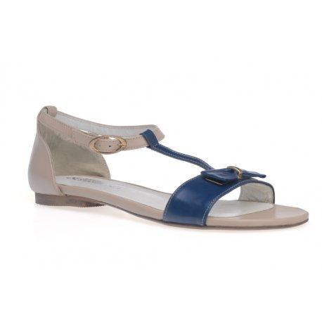 Damskie skórzane sandały paseczki HIT