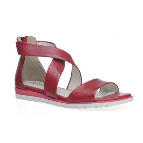 Damskie skórzane sandały rzymianki