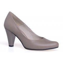 Buty beżowe szpilki z włoskiej skóry