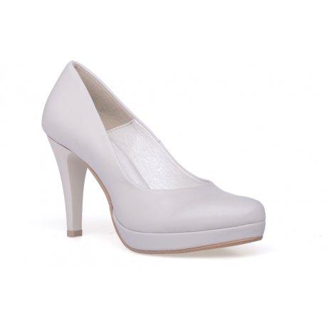 Buty ślubne beżowe szpilki damskie
