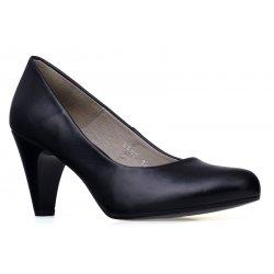 Czółenka buty na niskim obcasie czarne