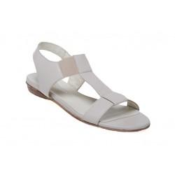 Skórzane sandały sandłki plaski obcas